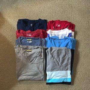 Lot of 8 Men's INC Shirts Like-New